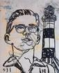 DAVID BROMLEY (BORN 1960) Boy by the Light cotton thread and acrylic on canvas