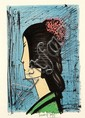 BERNARD BUFFET (FRENCH, 1928-1999) Geisha lithograph E/A