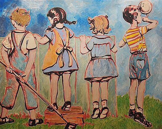DAVID BROMLEY (BORN 1960) Horizons acrylic on canvas