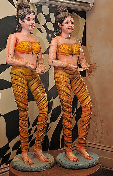 A PAIR OF INDIAN CARNIVAL FIGURES