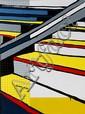 § JASPER KNIGHT (BORN 1978) Yellow Steps 2011 enamel, masonite and perspex on board