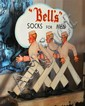 A WOODEN ADVERTISING SIGN 'BELLS SOCKS FOR MEN'