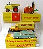 DINKY 57/006 RAMBLER CLASSIC MADE IN HONG KONG; FRENCH DINKY 597 CHARIOT A FOURCHE; DINKY SUPERTOYS 962 MUIR-HILL DUMPER TRUCK; AND...