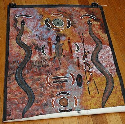 BARNEY DANIELS TJUNGURRAYI Untitled, c.1990 signed