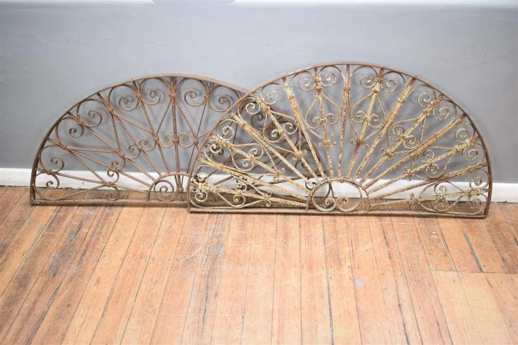 A pair of decorative wrought iron arched panels - Wrought iron decorative wall panels ...