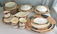 A MEAKIN QUEEN MARY DINNER SET FOR SIX