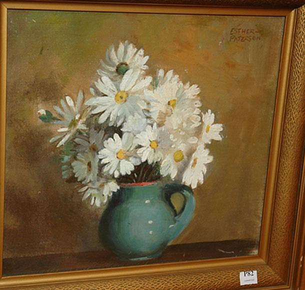 ESTHER PATERSON, 'STILL LIFE WITH DAISES', OIL ON