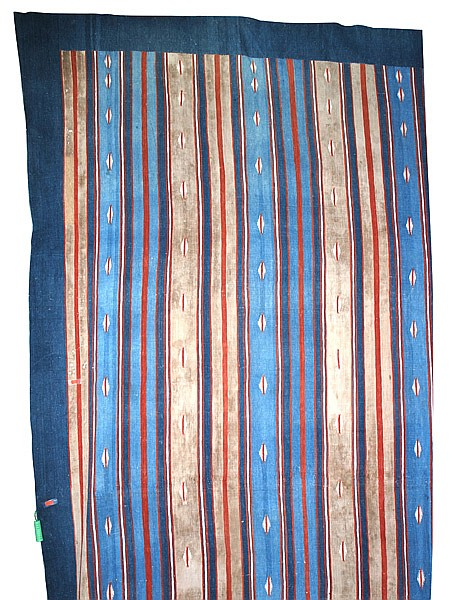 A LARGE OVERSIZED WOVEN COTTON FLOOR DHURRY