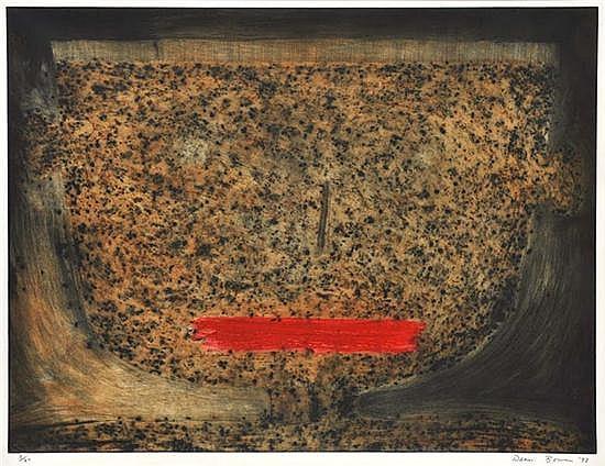 DEAN BOWEN (BORN 1956) Lyon Boy 1993 coloured etching ed 3/20