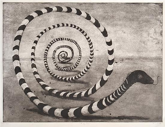GEOFF RICARDO (BORN 1964) The Long Snake 1997 etching and aquatint T/P