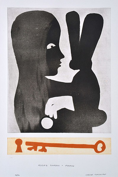 CHARLES BLACKMAN (BORN 1928) Alice's Shadow and Friend etching 76/90