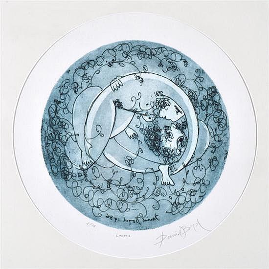 DAVID BOYD (1924-2011) Lovers 1986 etching 2/75