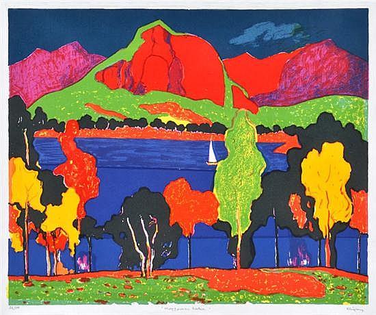 JOHN RIGBY (BORN 1922) Moogerah Lake screenprint 36/50
