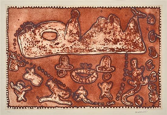 MABEL JULI (BORN 1933) Untitled etching 2/30