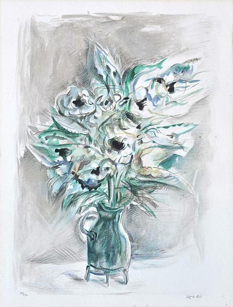 YOSL BERGNER (BORN 1920) Still Life - Flowers screenprint