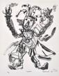 DAVID LARWILL (1956-2011) Rigoletto lithograph