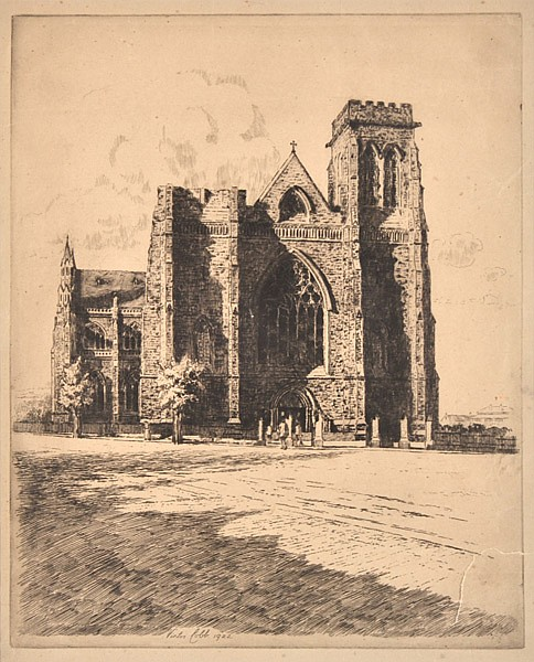 VICTOR COBB (1876-1945) St Patricks Cathedral, Melbourne 1922 etching