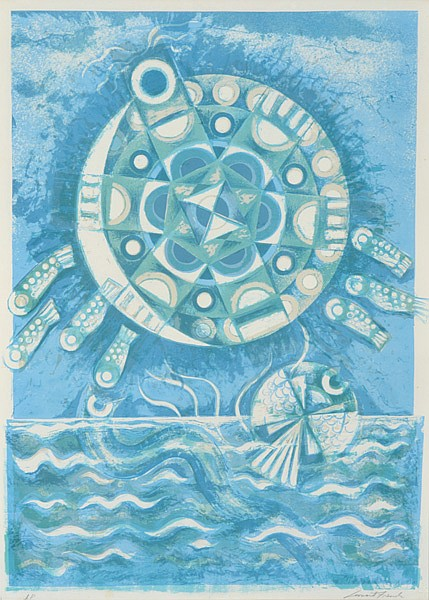LEONARD FRENCH (BORN 1928) Moon Turtle lithograph A/P
