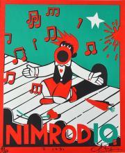 MARTIN SHARP (born 1942) Nimrod screenprint 890/1000