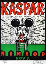 MARTIN SHARP (born 1942) Kaspar screenprint 890/1000