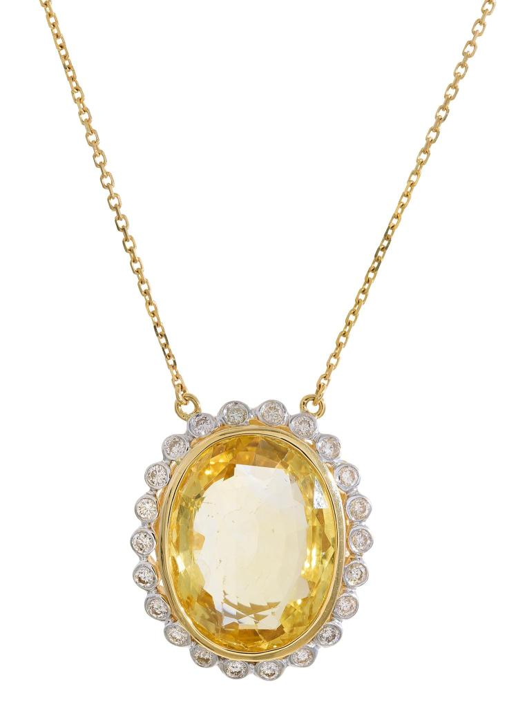 yellow sapphire necklace - photo #9
