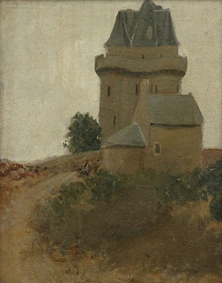 Jean P. Sutherland (1902-1978) The Castle oil on canvas board