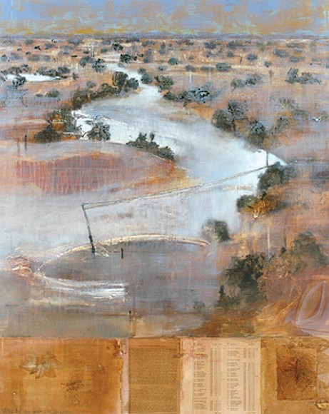 Joanna Logue (born 1964) After the Big Wet - Kingoonya 1995 acrylic and mixed media on paper