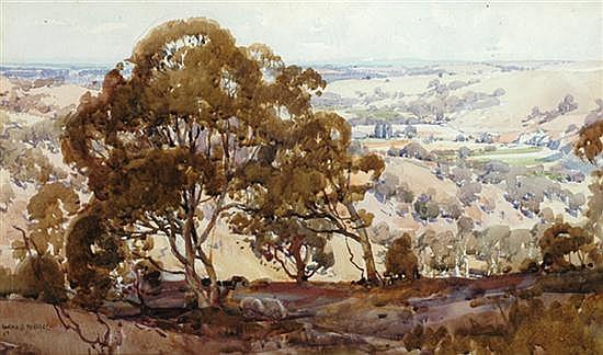 Harold Herbert (1892-1945) The Valley 1922 watercolour