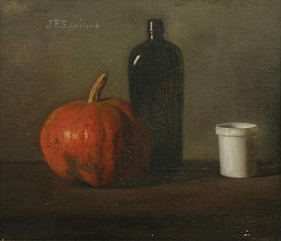 Jean P. Sutherland (1902-1978) Still Life with Pumpkin oil on canvasboard