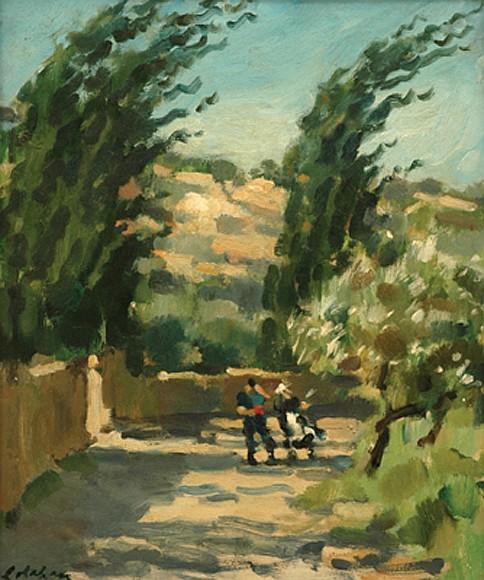 Colin Colahan (1897-1987) Allegro Furioso (Mistral) oil on panel