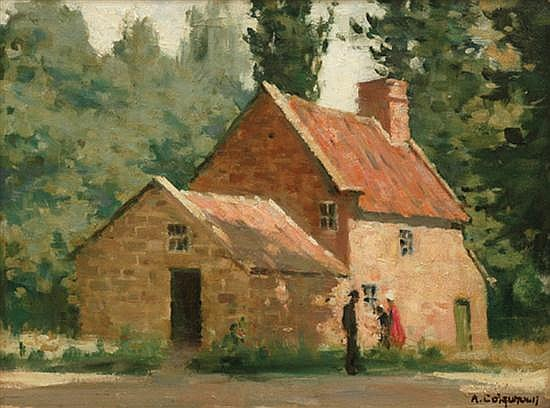 Alexander Colquhoun (1862-1941) Captain Cook's Cottage oil on board