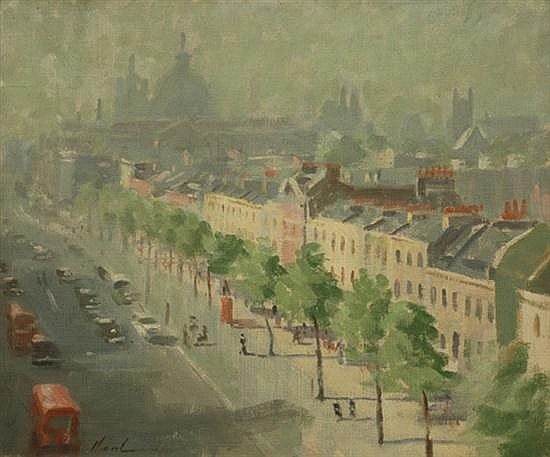 Hayward Veal (1913-1968) Knightsbridge oil on canvas