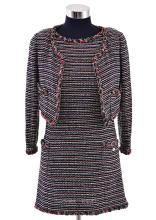 A DRESS AND JACKET TWINSET BY CHANEL