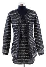 A DRESS AND CARDIGAN TWINSET BY CHANEL