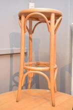 A SET OF FOUR THONET STYLE BENTWOOD BEECH BAR STOOLS