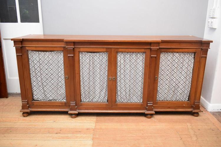 A 1920 39 s georgian style breakfront sideboard with mesh doors for Sideboard 2m