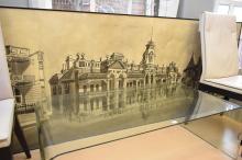 A LARGE MELBOURNE HISTORICAL ARTWORK
