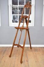 AN ANTIQUE STYLE TIMBER EASEL