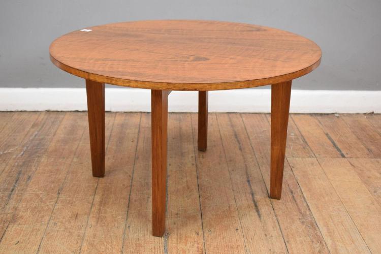 A 1970 39 s teak veneered circular coffee table 45cm x 80cm for Coffee table 80cm x 80cm