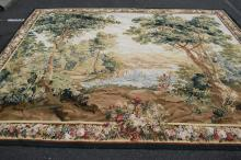 A MID-20TH CENTURY LANDSCAPE TAPESTRY (355 X 285CM)