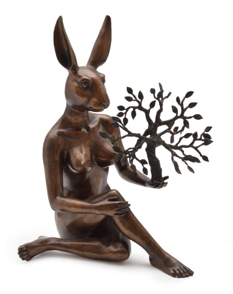 GILLIE AND MARC SCHATTNER (born 1965 and 1961) She Thought She Had The Whole World In Her Hand 2014 cast bronze ed. 6/10