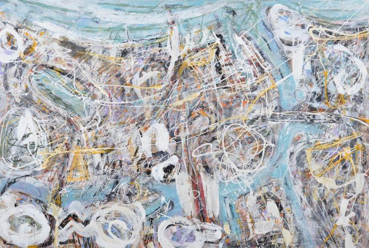 TED POWELL (born 1946) Astral Plane South 2015 mixed media on Arches paper