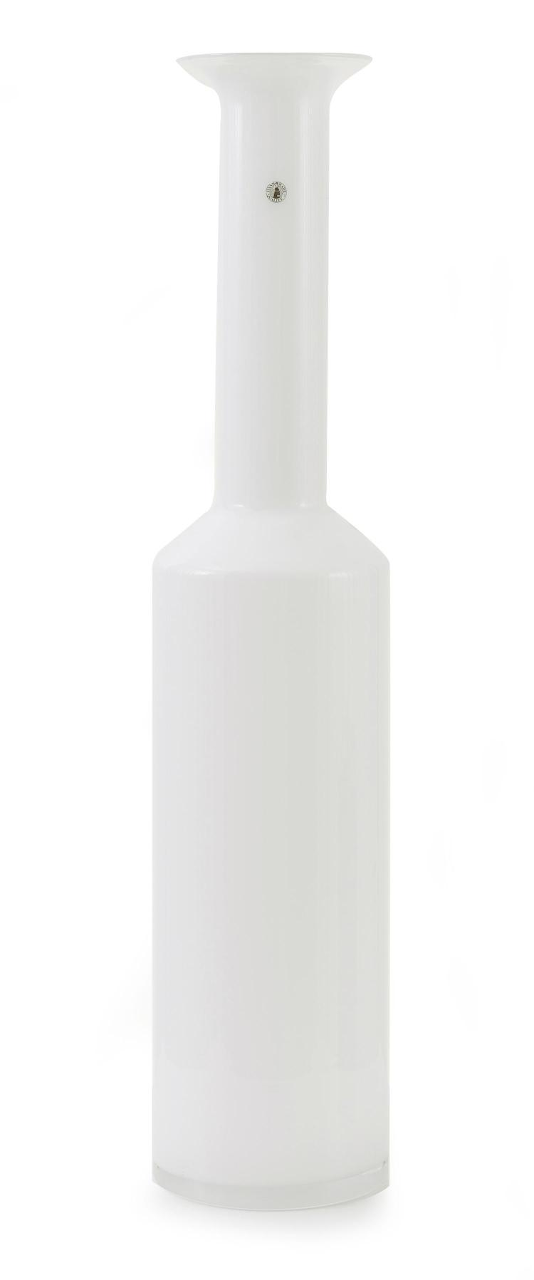 Large Glass Vessel : Lot 277: LARGE WHITE GLASS VESSEL