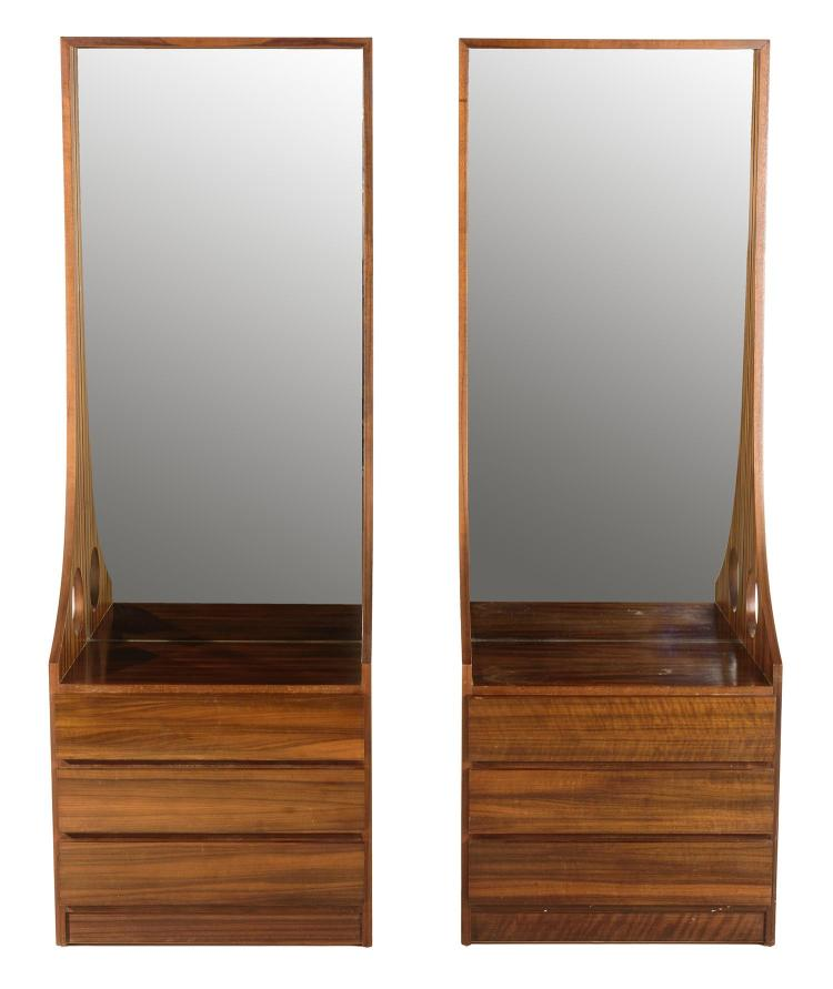 Pair of australian mirrored bedside cabinets for Mirror bedside cabinets