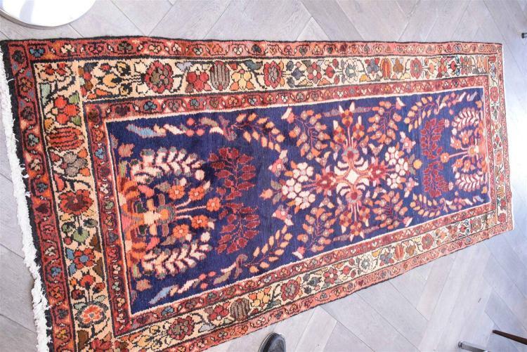 Tribal Persian Lilihan 100 Wool Pile Hall Runner Origin Ira