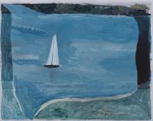 JILL NOBLE (born 1962) Sailing boat