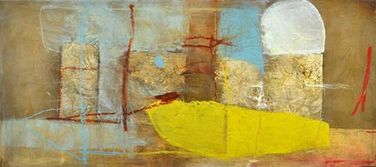CONCHITA CARAMBANO (born 1961) In the Beginning oil and mixed media on canvas