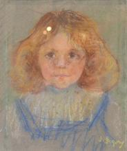 INA GREGORY (1874-1964) Ronnie (Veronica) pastel on paper