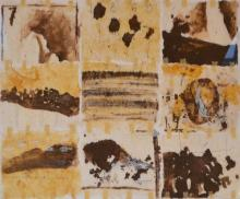 MAUREEN O'SHAUGHNESSY, UNTITLED 3, MIXED MEDIA ON PAPER, 50 X 70CM