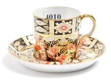 A ROYAL CROWN DERBY IMARI DEMITASSE CUP & SAUCER
